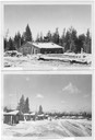2 pictures of 50's woods camps