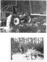2 pictures of skidders twitching wood