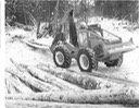 Skidder with wood